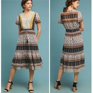 One September Provencal Boho Midi Dress